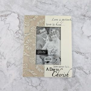 Love is Patient Wedding Christian Frame 4x6